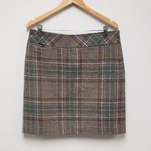 L. L. Bean Plaid Skirt